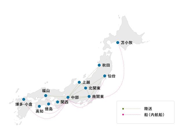 物流拠点 地図